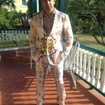 The Wonderful Mr Jude Ranasinghe in Jeffery-West Devistation Boots and one hell of a sensational suit.
