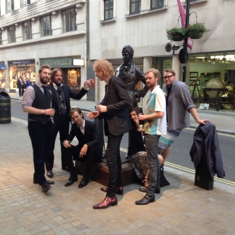Jeffery-West Boys Past and Present celebrating 15 years of J-W in Piccadilly Arcade. Long may it continue!