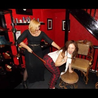 The delightful Joanna and Amy thoroughly misbehaving at the recent Leeds Late Night Shopping Event. Disgraceful!!