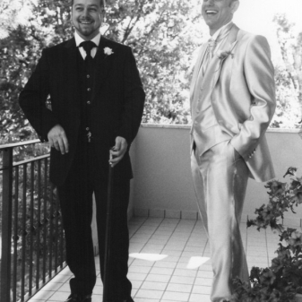 Franz & Andrea Carpineti, two Italian Gentlemen wearing custom Jeffery-West Shoes