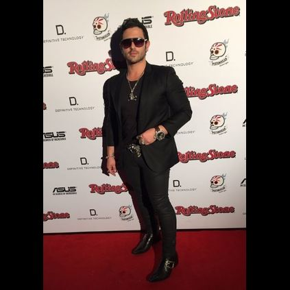 Anthony Troiano wearing his Rochester Ants at the Rolling Stone Awards.