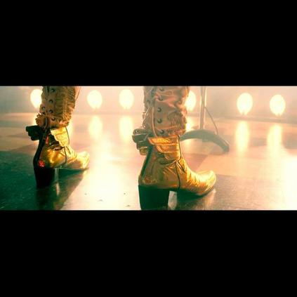 Alan Moore, bespoke winged platform Murphys , in the film Jimmys End
