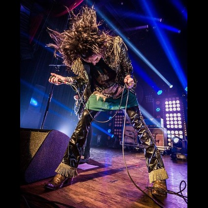 Go out in a blaze of glory - Luke Spiller from The Struts live and unleashed on stage.
