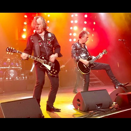 Rock and roll revelry - Thunders Ben Matthews in his Wolverine boots and Luke Morley in the OToole Omny boots!