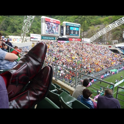 Jeff Gardner at the Hong Kong 7s watching Wales v France, we hope your Otoole Chelsea boots withstood the undoubted Debauchery that ensued !