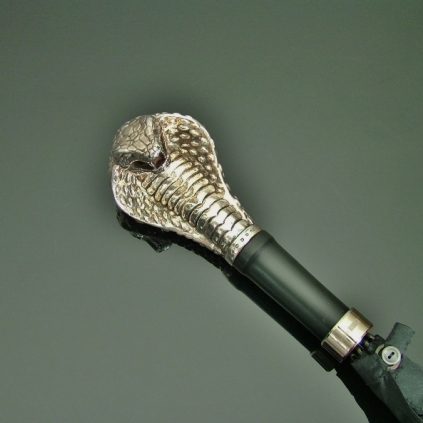 Umbrellas - Silver Spitting Cobra Head