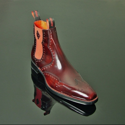 Dexter - 'Novikov' Polished Punch Chelsea Boot