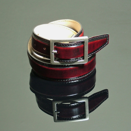 Rub Off Belt - Shade Burgundy Stitched