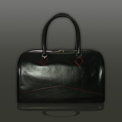 The 'Nightporter' Overnighter Bag - Black Calf