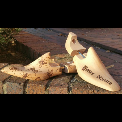 'SCORCHED' Personalised Shoe Tree Fillers