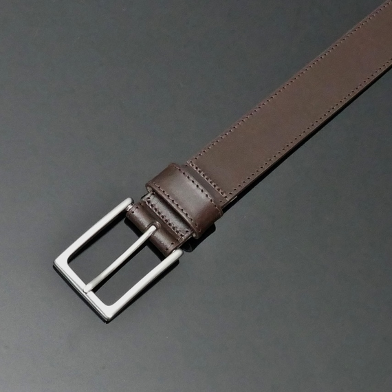 Dirk Jeans Belt - Dark Brown Calf