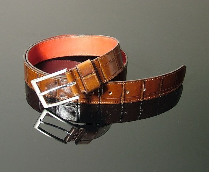Dirk Jeans Belt - Tan Croc
