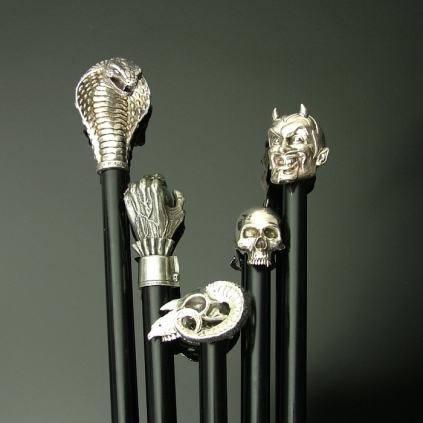 Silver Handled Walking Canes