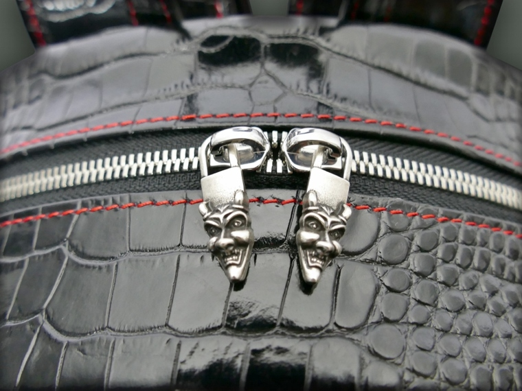 Part of our Hellraiser luggage collection : the 'Richard Harris' Getaway Rucksack - Black Croc