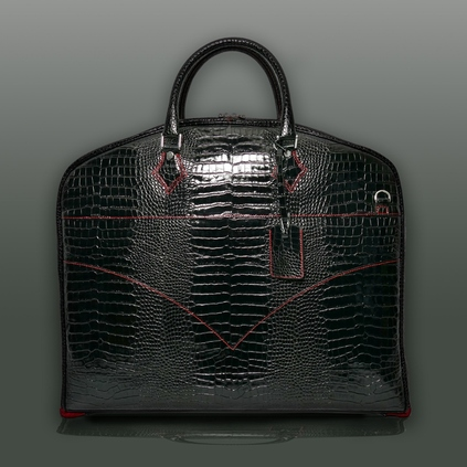 Part of our Hellraiser luggage collection : the 'Peter O'Toole' Suit Carrier - Black Croc