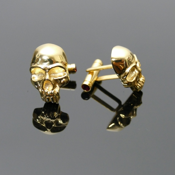 'Nosferatu' Skull Cufflinks & Shirt Button set