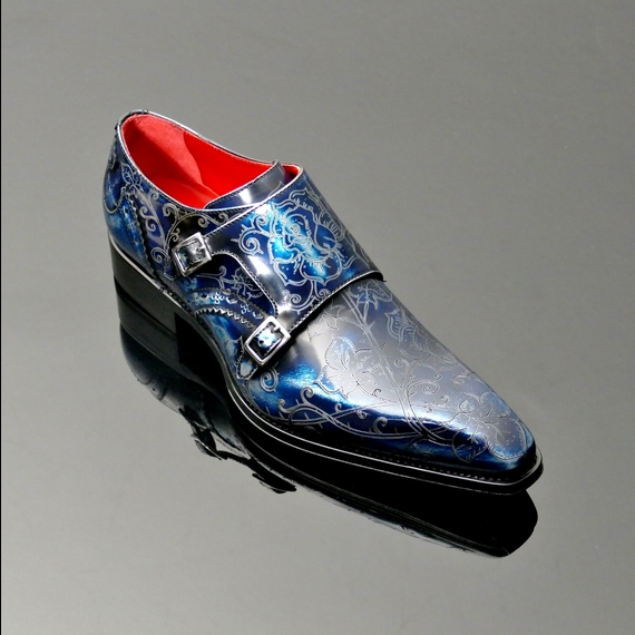 Moon 'Forbidden Fruit' Lasered Monk Shoe
