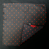 Black/Red Polka Skull Scarf and Pocket Square Set