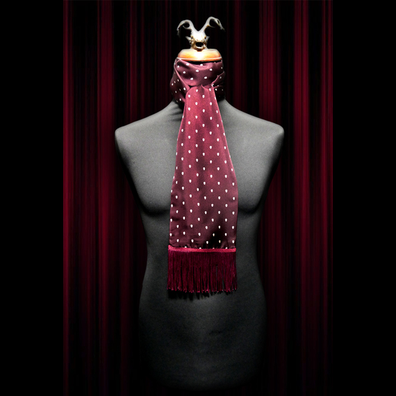 Plum Polka Skull Scarf and Pocket Square Set