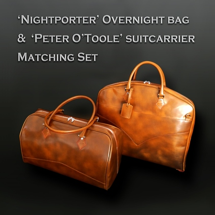 Overnight bag and Suit-carrier Set - Tiziano Tan