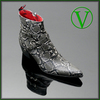 Sylvian K474 'DAMAGED' VEGAN Buckled Zip Boot <b>was <s>£275</s> now £215 </b>