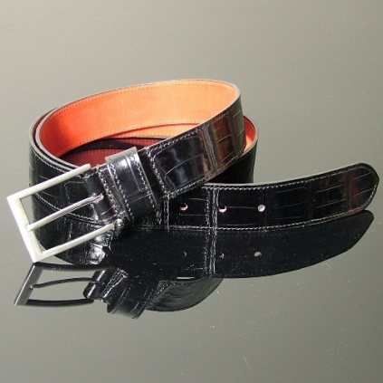 Dirk Jeans Belt - Black Croc