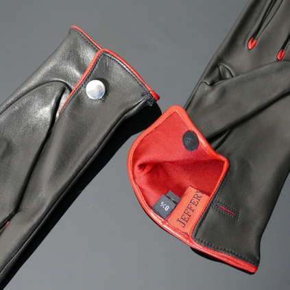 'Caine' Driving Gloves - Black Leather
