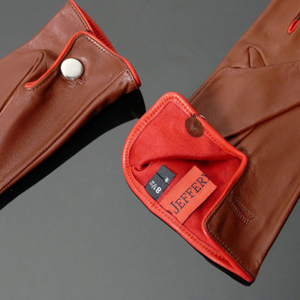 'Caine' Driving Gloves - Tan Leather