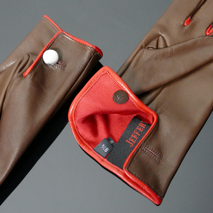 'Caine' Driving Gloves - Conker Brown Leather