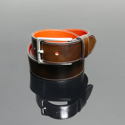 Dirk Jeans Belt - Pickled Walnut Polish